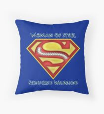 Woman of Steel - Scoliosis Awareness Throw Pillow
