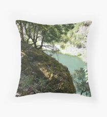 The Rogue River Gorge Throw Pillow