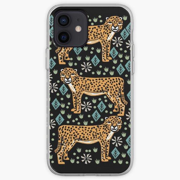 Cheetah safari art printmaking screen print giclee by andrea lauren iPhone Soft Case