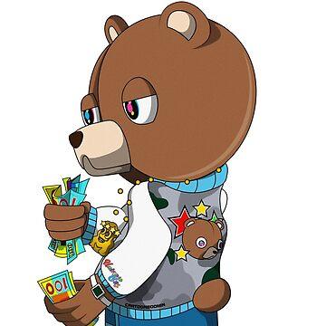 Graduation Bear Sticker by cartoonboomin
