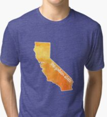 California Water Color Golden State Tri-blend T-Shirt