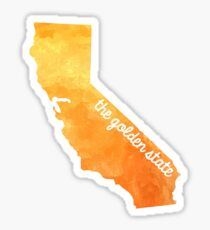 California Water Color Golden State Sticker