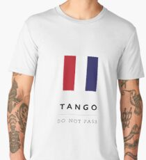 Nautical Flag: Tango Men's Premium T-Shirt