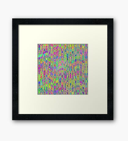 Abstract Meadow Framed Print