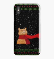 Tabby loves Snow (Knitted-version) iPhone Case/Skin