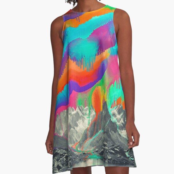 Regenbögen A-Linien Kleid