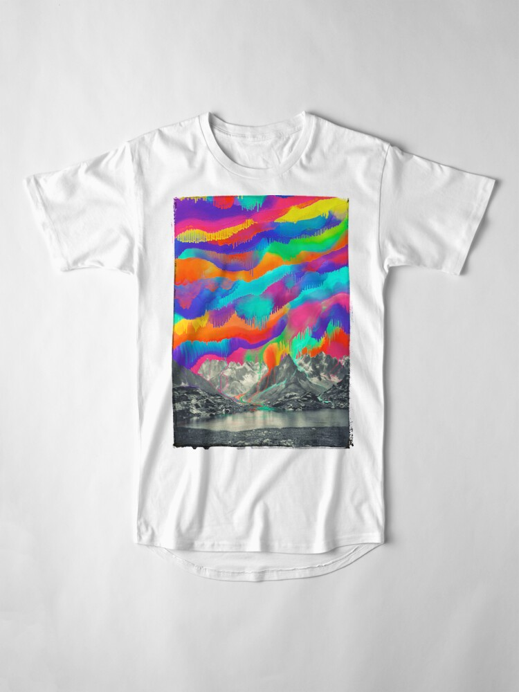 Alternate view of Skyfall, Melting Northern Lights Long T-Shirt