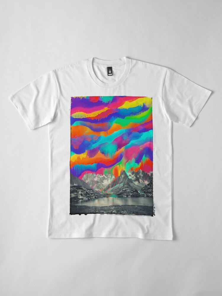 Alternate view of Skyfall, Melting Northern Lights Premium T-Shirt