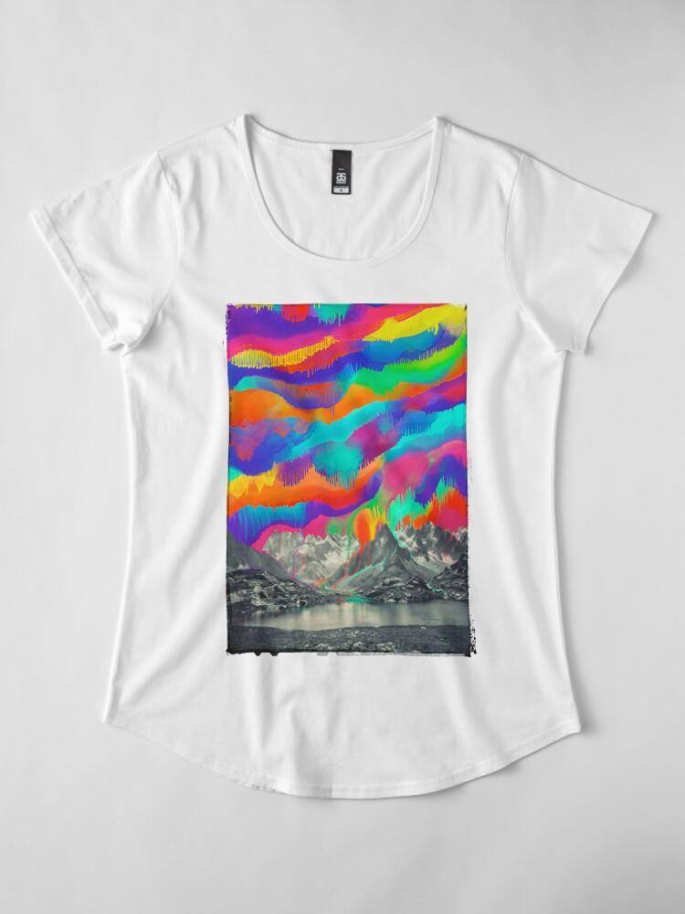 Alternate view of Skyfall, Melting Northern Lights Premium Scoop T-Shirt