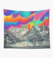 Tela decorativa Skyfall, fusión de la aurora boreal