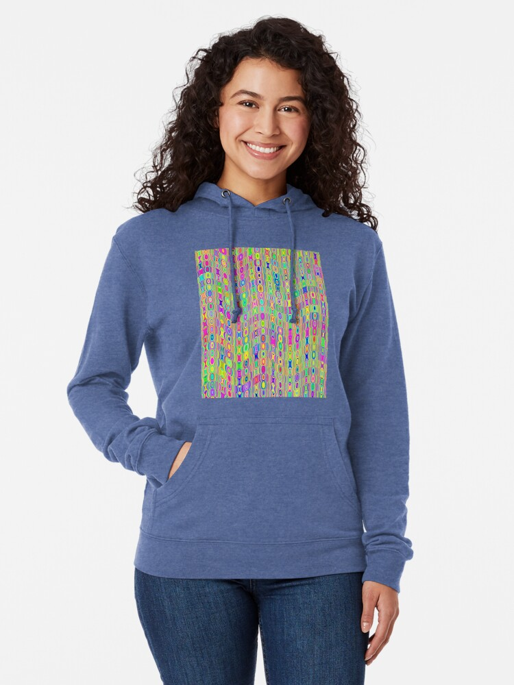 Alternate view of Abstract Meadow Lightweight Hoodie