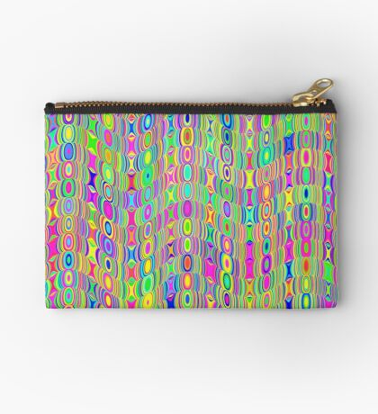 Abstract Meadow Zipper Pouch