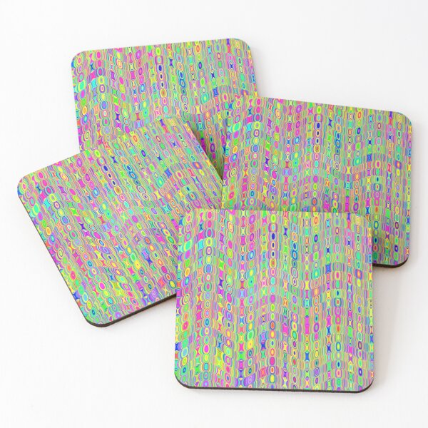 Abstract Meadow Coasters (Set of 4)