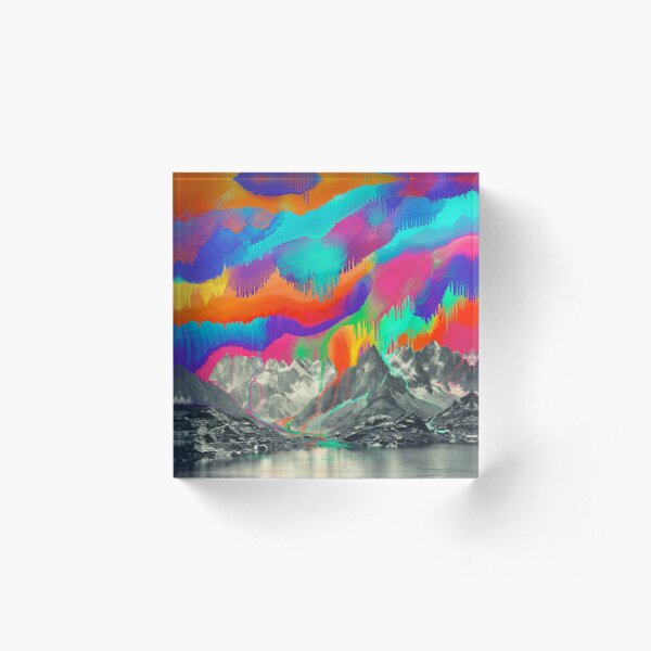 Skyfall, Melting Northern Lights Acrylic Block