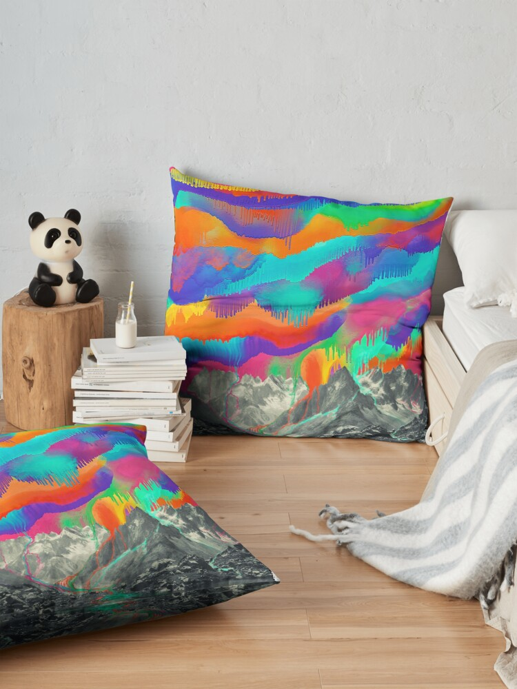 Alternate view of Skyfall, Melting Northern Lights Floor Pillow
