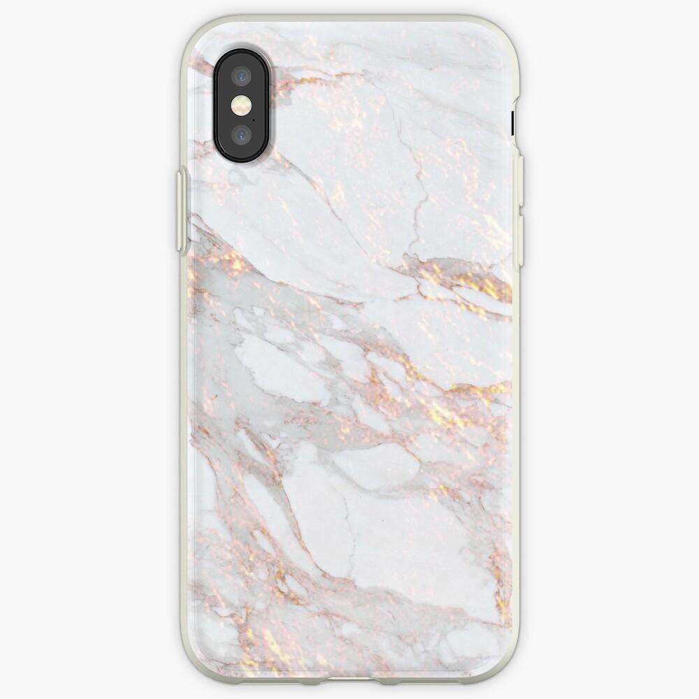 Schickes elegantes Goldmarmor-Muster iPhone-Hülle & Cover