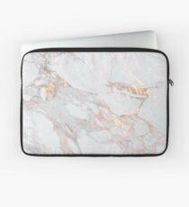 Chic Elegant Gold Marble Pattern Laptop Sleeve