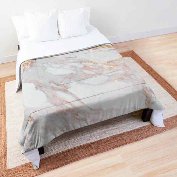 Chic Elegant Gold Marble Pattern Comforter