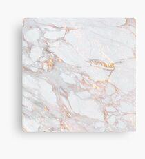 Chic Elegant Gold Marble Pattern Canvas Print
