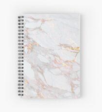 Cuaderno de espiral Chic Elegante Patrón de Mármol Dorado