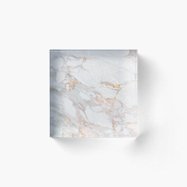 Chic Elegant Gold Marble Pattern Acrylic Block