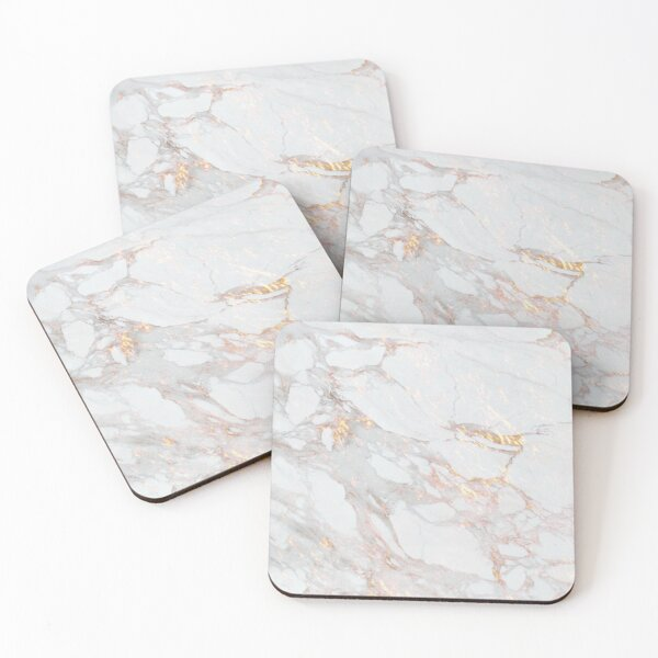 Chic Elegant Gold Marble Pattern Coasters (Set of 4)