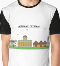 Germany, Potsdam City Skyline Design Graphic T-Shirt