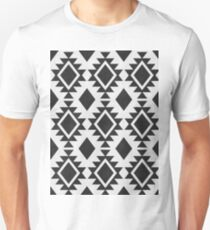 Black and white geomeric pattern T-Shirt