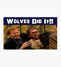 Wolves did it! Photographic Print