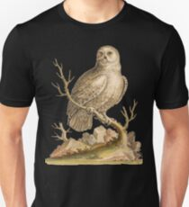 White Owl - Bird HD vintage image from encyclopedia number 14 T-Shirt