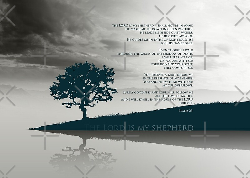 Psalm 23 Bible Verse The Lord Is My Shepherd I Lack Nothing On