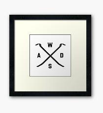 Gamer WASD Framed Print