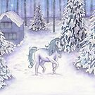 Enchanted Christmas Unicorn  by Victoria Thorpe