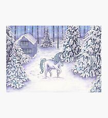 Enchanted Christmas Unicorn  Photographic Print