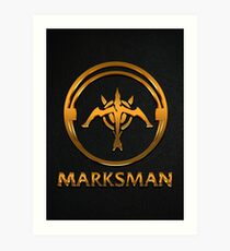 League of Legends MARKSMAN [gold emblem] Art Print