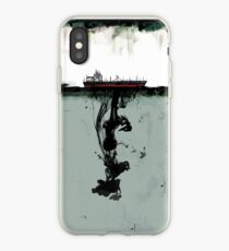 Ship boat spill sea ocean iPhone Case