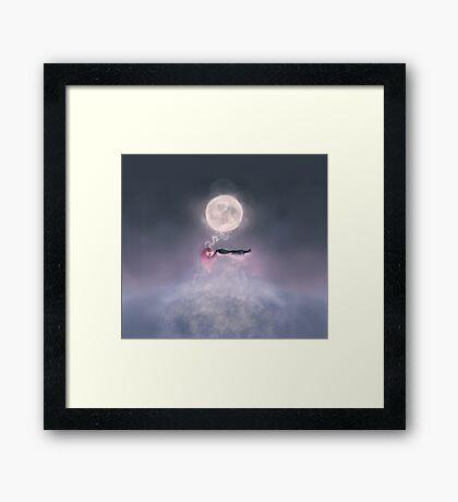 Moonsende / Back to Home Framed Print