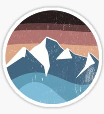 mountain souvenir logo vintage Sticker