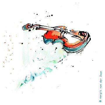 Violín dibujado con pluma de ArtyMargit