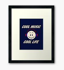 Cool Music Cool Life Framed Print