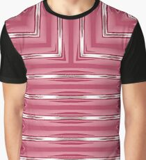 Art Deco Geometric Bright Pink and White Stripes  Graphic T-Shirt