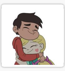 Starco hug Sticker