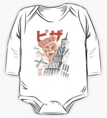 Pizza Kong Long Sleeve Baby One-Piece