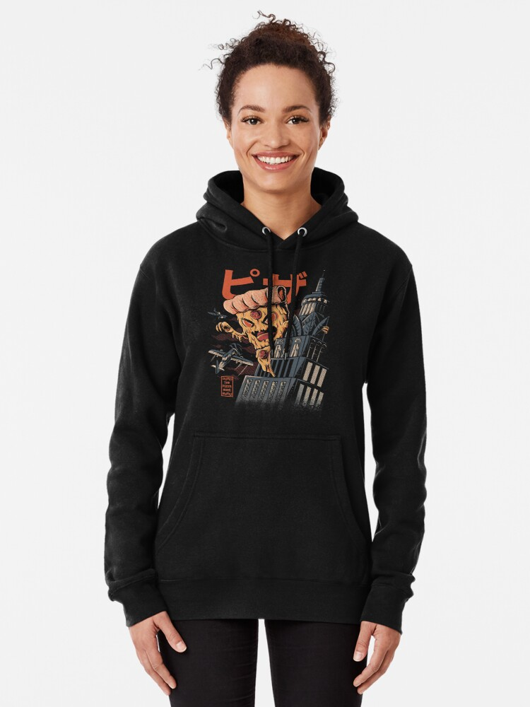 Alternate view of Pizza Kong Pullover Hoodie