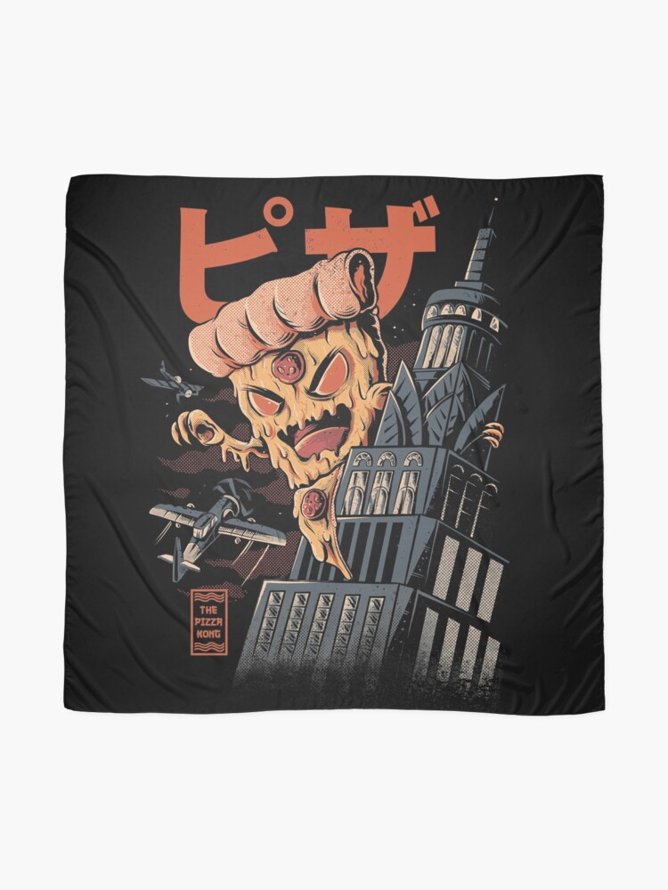 Alternate view of Pizza Kong Scarf