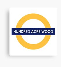 Next Stop, Hundred Acre Wood Canvas Print