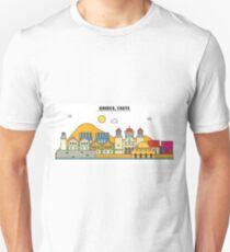 Greece, Crete City Skyline Design T-Shirt