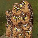Buffy Fish Owls by Natalie Metzger