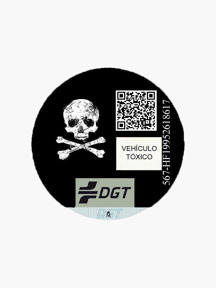 Pegatina distinto DGT: Tóxico de Ryo567