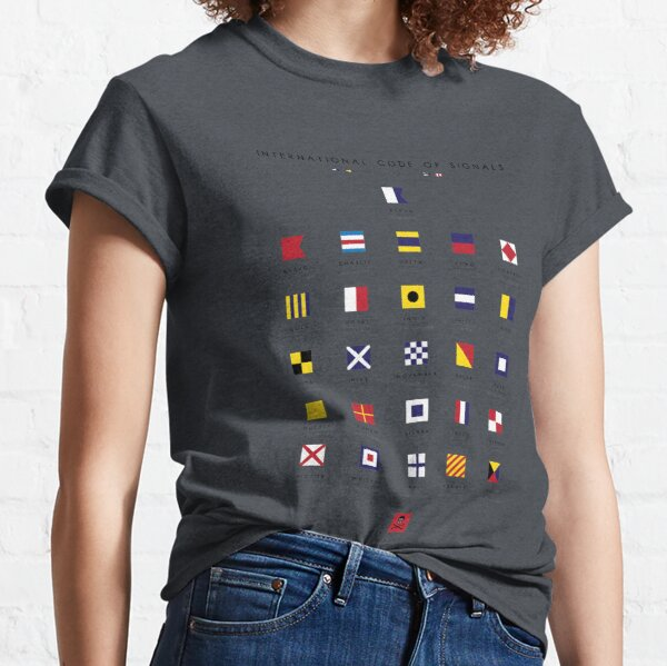 Nautical Flags: International Code of Signals Classic T-Shirt